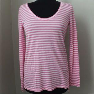 NWT Banana Republic Pink & White Striped Tee - S